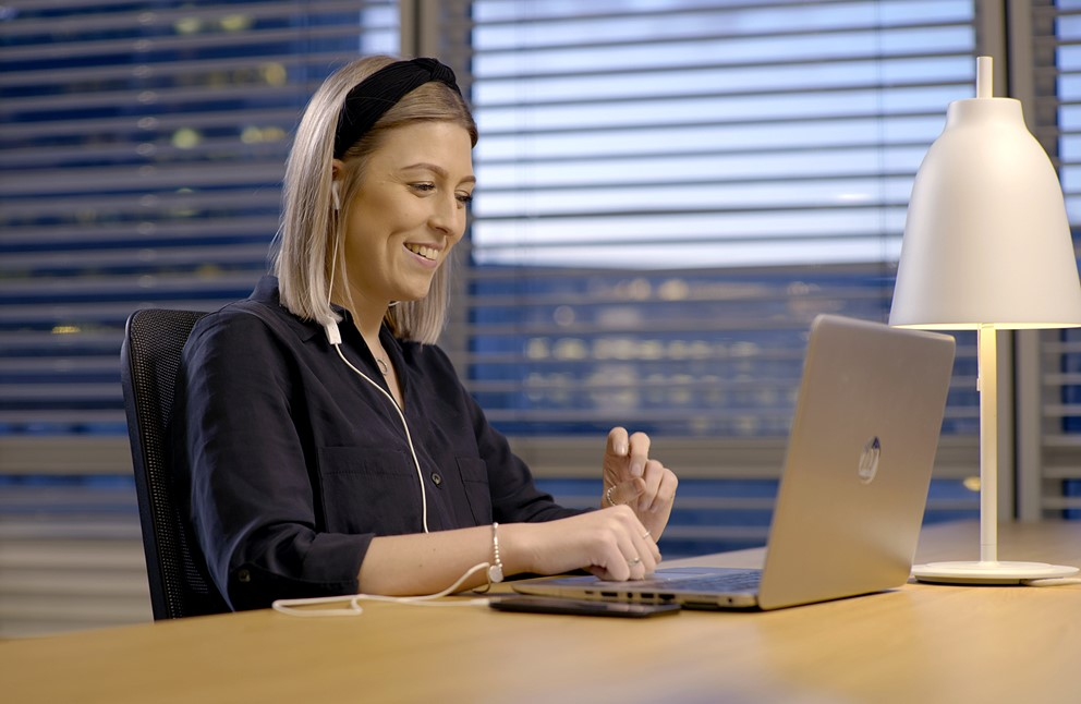 Agile Becky Smiling At Webex